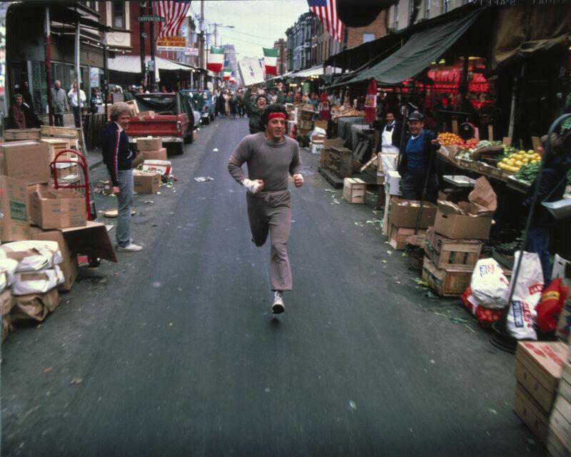 Rocky II Sylvester Stallone 8x10 Photo Running Training Philadelphia Streets