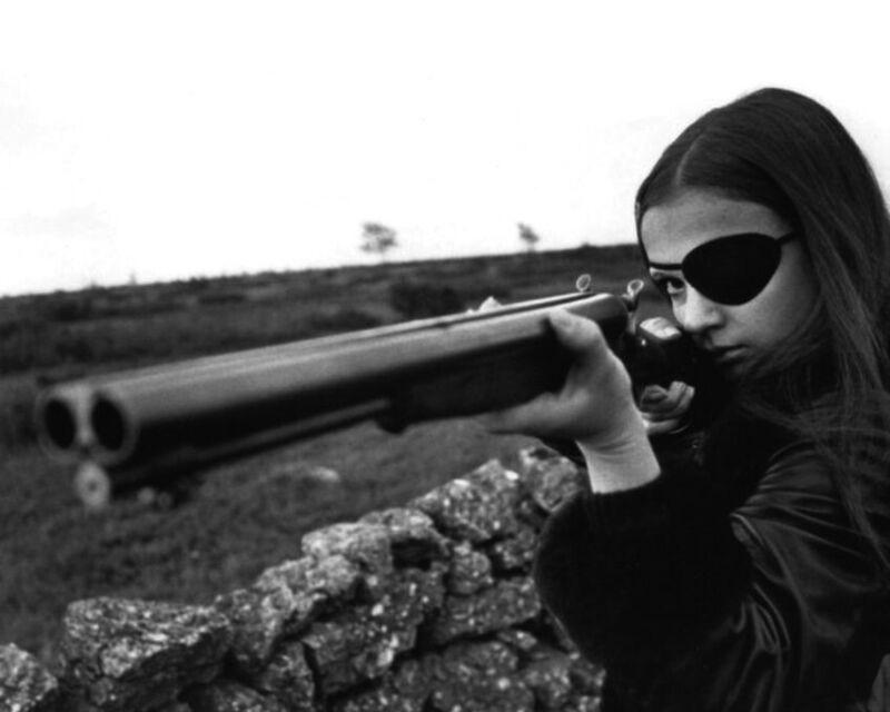 Christina Lindberg shotgun eye patch They Call Her One Eye Thriller Photo