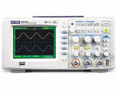 1pc New Atten Ads1042c Digital Oscilloscope 40mhz Bandwidth 2 Channels 500msas