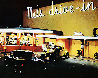 American Graffiti 24x36 Poster Mel's Drive In at night