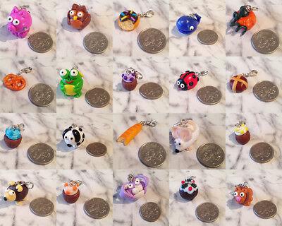 Handmade Polymer Clay Charms - Animals, Food, Bakery etc....