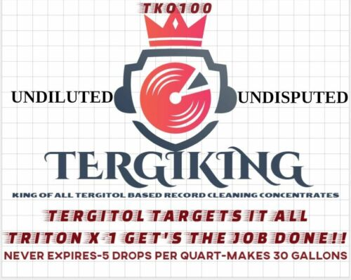 TERGIKING Tergitol Blend Record Cleaning Concentrate with Triton X-100! BUNDLE!