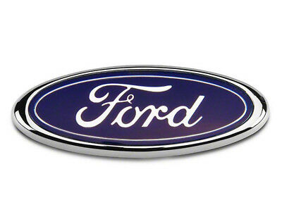 Ford Bonnet Boot Badge Transit Focus Van Mondeo 150MM x 60MM Blue Chrome FR2