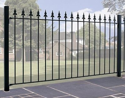 Salva Spear Top Fence 1830mm GAP x 950mm H Galvanised Wrought Iron Metal Fencing