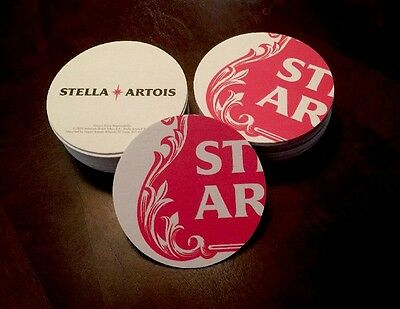 "Stella Artois   Beer Coasters  You Receive ""20"" Coasters.  Free Shipping"
