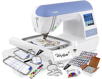 Brother PE770 Embroidery Machine w/ Grand Slam Embroidery Package + Hoops!