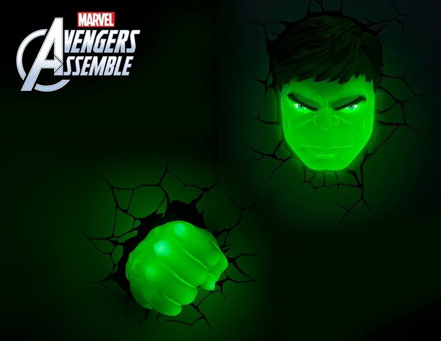 marvel comics 3d wall light