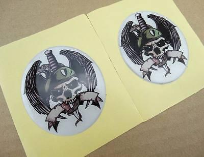 Tank Fairing Atv Dirt Bike Emblem Decal Sticker Skull Zombie Motorcycles Custom