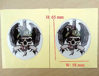 Emblem Decal Sticker 3D Rubber Skull Zombiefuel Oil Tank Fairing Atv Dirt Bikes