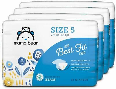 Mama Bear Best Fit Baby DIAPERS compared to PAMPERS size N, 1, 2, 3, 4, 5,