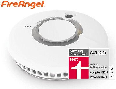 FireAngel Batteriebetriebener Rauchmelder mit Funkschnittstelle Feuermelder Weiß
