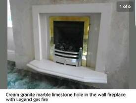 Marble Limestone Gas Fires x2
