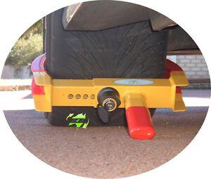 BNIB 8-18'' Security Wheel Clamp Lock Car Tyre Trailer Boat Caravan With 2 Keys