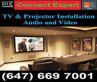TV Wall mounting service*647 669 7001*Projector Installation