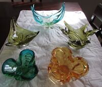 Various Signed Chalet Canada Art Glass Vases