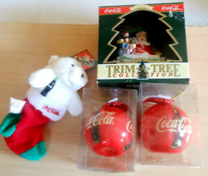 Coca-Cola Coke Collectibles Lots : Plush, Toy Ornament +