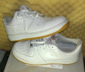 Nike Air Force 1 Lows 'Croc'  (White/Gum Bottom) US size 9.5