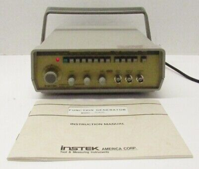 Vintage Instek Fg-8015g Function Generator W Manual Power Cable
