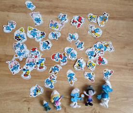 Smurfs Figures Toys & 50+ PEYO Smurf Stickers