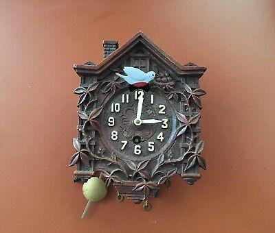 Vintage Lux Clock Miniature Cuckoo Waterbury CT