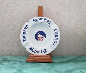 William Penn North Star Porcelain Enamel Gasoline Oil Ashtray