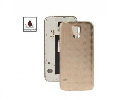TAPA TRASERA CUBRE BATERIA PARA SAMSUNG GALAXY S5 i9600/G900F Dorado