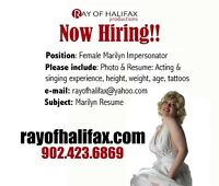 NOW HIRING !! MARILYN MONROE IMPERSONATORS !!