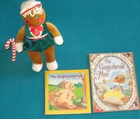 2 gingerbread Man Books with gingerbread stuffie