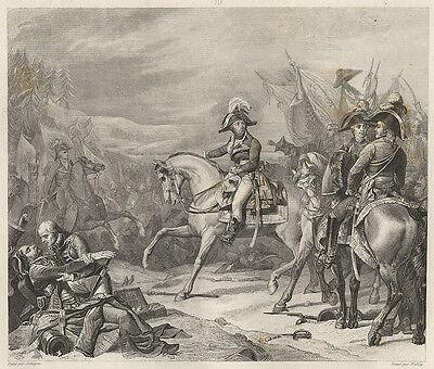 Napoleon : Schlacht bei Hohenlinden. - Radierung bei Gavard, um 1840