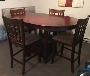 Dining room set (hight table and chairs) $200.00