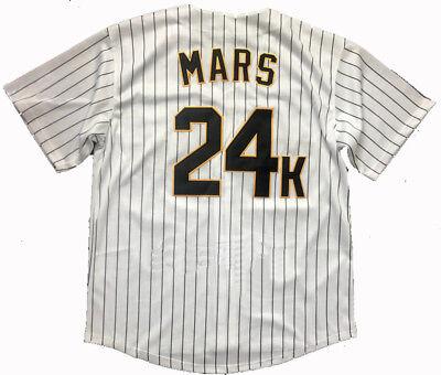 Bruno Mars 24K Hooligans Baseball Jersey Stitched White Stitched Jerseys