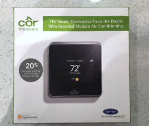 NEW Cor Smart Thermostat Carrier Apple HomeKit Compatible iPhone