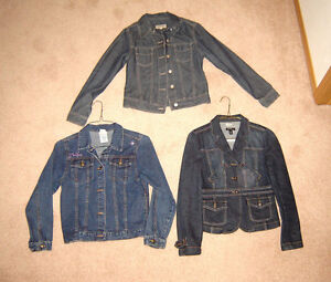 Girls Jean Jackets - size L and S (ladies) - approx. sz 10 or 12