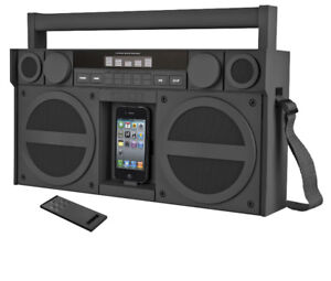 iHome Portable FM Stereo Boombox for iPod/iPhone, New