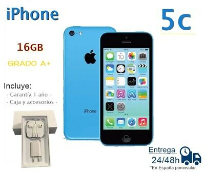 IPHONE 5C DE 16GB AZUL REACONDICIONADO LIBRE / GRADO A+ / CAJA Y ACCESORIOS comprar usado  Enviando para Brazil