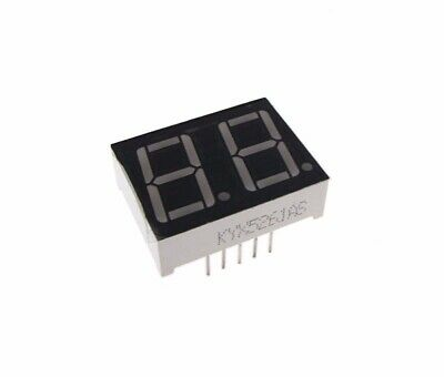 0.56 2 Digit 7-segment Led Display Dip Common Cathode - Blue
