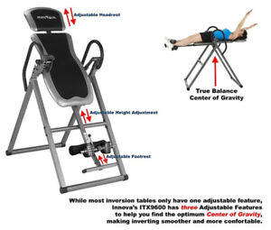New Innova Health and Fitness ITX9600 Inversion Therapy Table