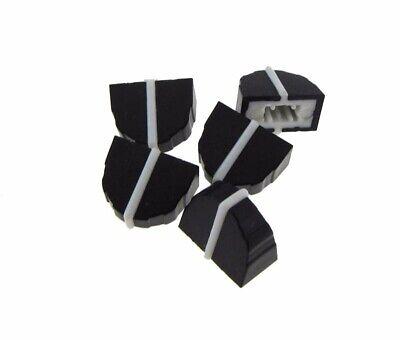 Knob Cap For 4mm Shaft Slide Pot Potentiometer 11x7mm - Black - Pack Of 5