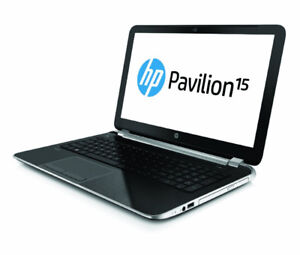 """HP 15n-220ca 15.6"""" laptop with upgraded RAM+SSD drive+backpack"""