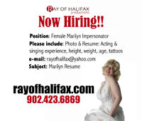 Now hiring ,Marilyn Monroe impersonator/actress /singer