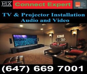 Professional TV Wall mounting service,call saeed @647-669-7001