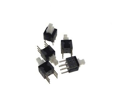 Small 5.8*5.8mm DPDT PushButton Switch Momentary Type White Head - Pack of 20 Dpdt Momentary Switch Type