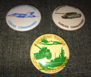 Vintage Canadian Armed Forces Pinback Button Lot of 3 for $5