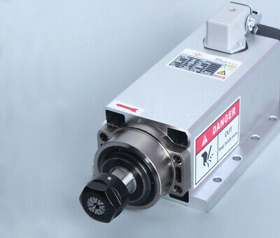 1.5kw Er11 Air-cooled Square Spindle Motor For Cnc Router Engraving Milling