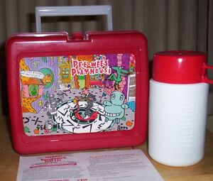 PEE WEE'S PLAYHOUSE lunch box with thermos 1988 brand new!