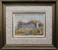 Original Mitch Keirstead oil painting titled Baden autumn 1977