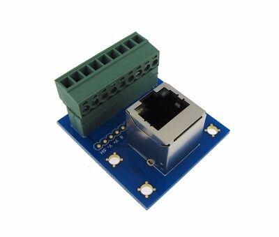 Rj45 Ethernet Connector Breakout Board Module 180 Vertical Plug Header Led
