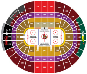 Ottawa Senators vs New York Islanders Tickets 100 Level