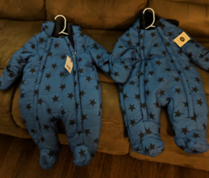 Baby snowsuits size 0-3 months