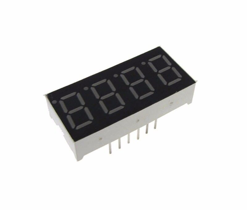 "0.36"" 4 Digit 7-Segment LED Display DIP Common Cathode - Green"